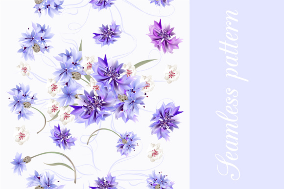 Download Free Seamless Floral Wallpapers Set Graphic By Fleurartmariia for Cricut Explore, Silhouette and other cutting machines.