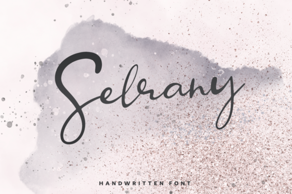 Print on Demand: Selrany Script & Handwritten Font By Pasha Larin
