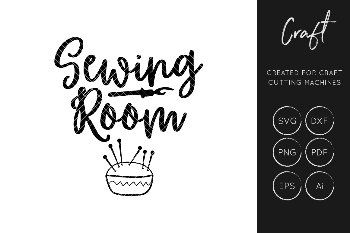 Download Free Sewing Room Graphic By Illuztrate Creative Fabrica for Cricut Explore, Silhouette and other cutting machines.