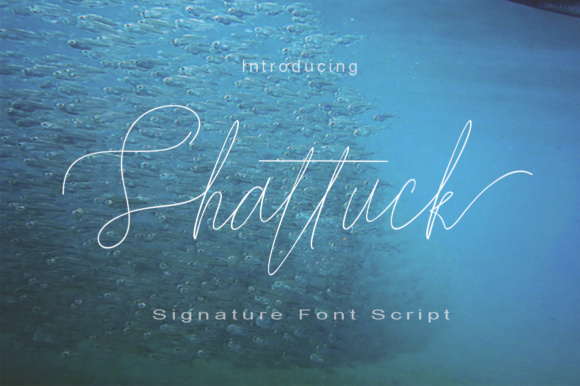 Print on Demand: Shattuck Script & Handwritten Font By Razi_studio