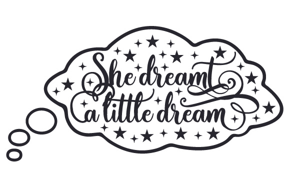 She Dreamt a Little Dream Bedroom Craft Cut File By Creative Fabrica Crafts