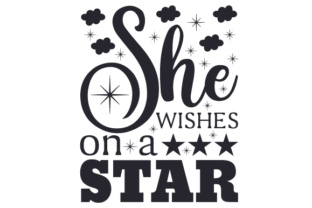 She Wishes on a Star Bedroom Craft Cut File By Creative Fabrica Crafts