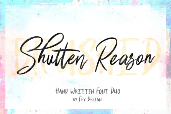 Print on Demand: Shutten Reason Script & Handwritten Font By feydesign