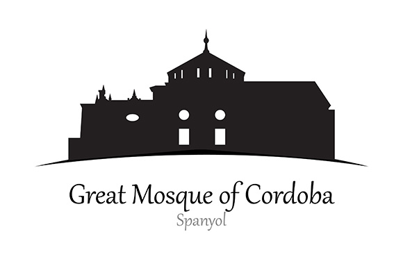Silhouette of Great Mosque of Cordoba, Spanyol - Vector Illustration Graphic Illustrations By indostudio