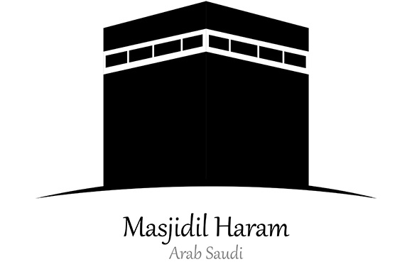 Silhouette of Masjidil Haram, Arab Saudi - Vector Illustration Graphic Illustrations By indostudio