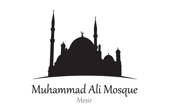 Silhouette of Muhammad Ali Mosque, Mesir - Vector Illustration Graphic Illustrations By indostudio