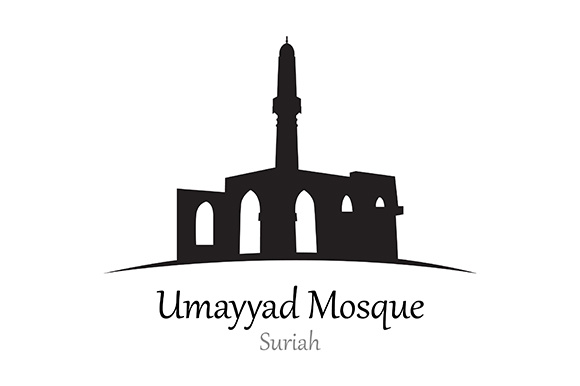Silhouette of Umayyad Mosque, Suriah - Vector Illustration Graphic Illustrations By indostudio
