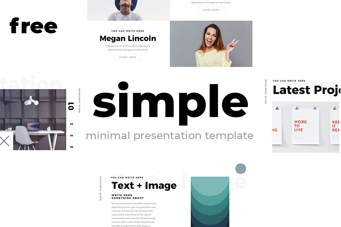 Download Free Simple Minimal Presentation Template Graphic By Creative Fabrica for Cricut Explore, Silhouette and other cutting machines.