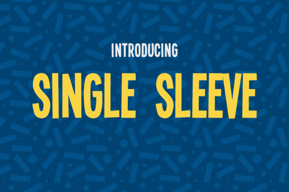 Print on Demand: Single Sleeve Sans Serif Font By Creative Fabrica Freebies - Image 1
