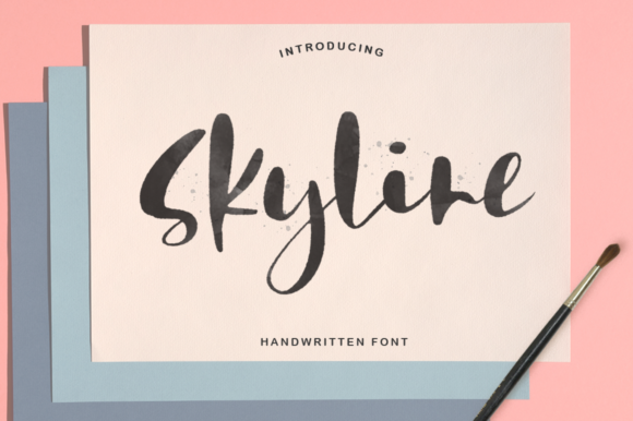 Print on Demand: Skyline Script & Handwritten Font By Pasha Larin