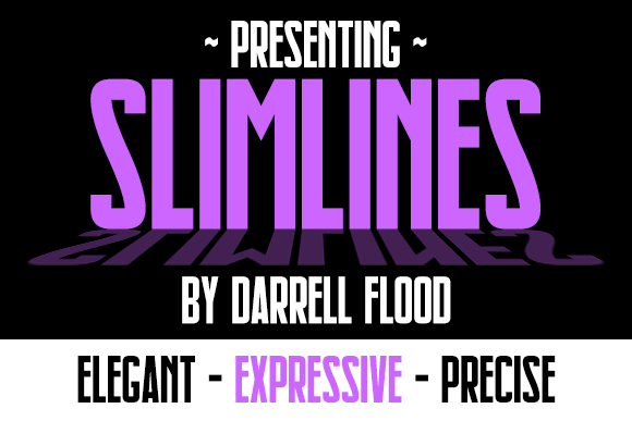 Print on Demand: Slimlines Sans Serif Font By Dadiomouse