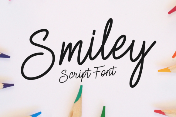 Print on Demand: Smiley Script & Handwritten Font By windestrian