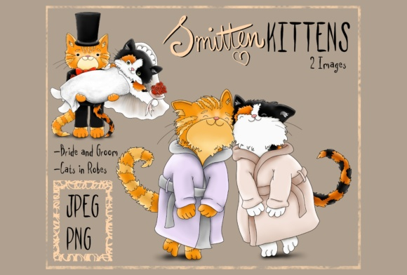 Smitten Kittens Graphic By Jen Digital Art