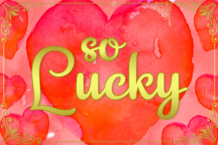 So Lucky Font By Silhouette America, Inc.