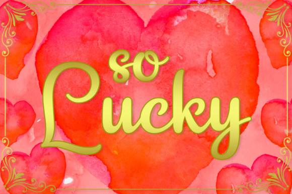 Print on Demand: So Lucky Script & Handwritten Font By Silhouette America, Inc.