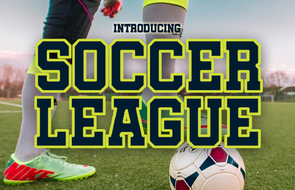 Print on Demand: Soccer League Display Font By vladimirnikolic