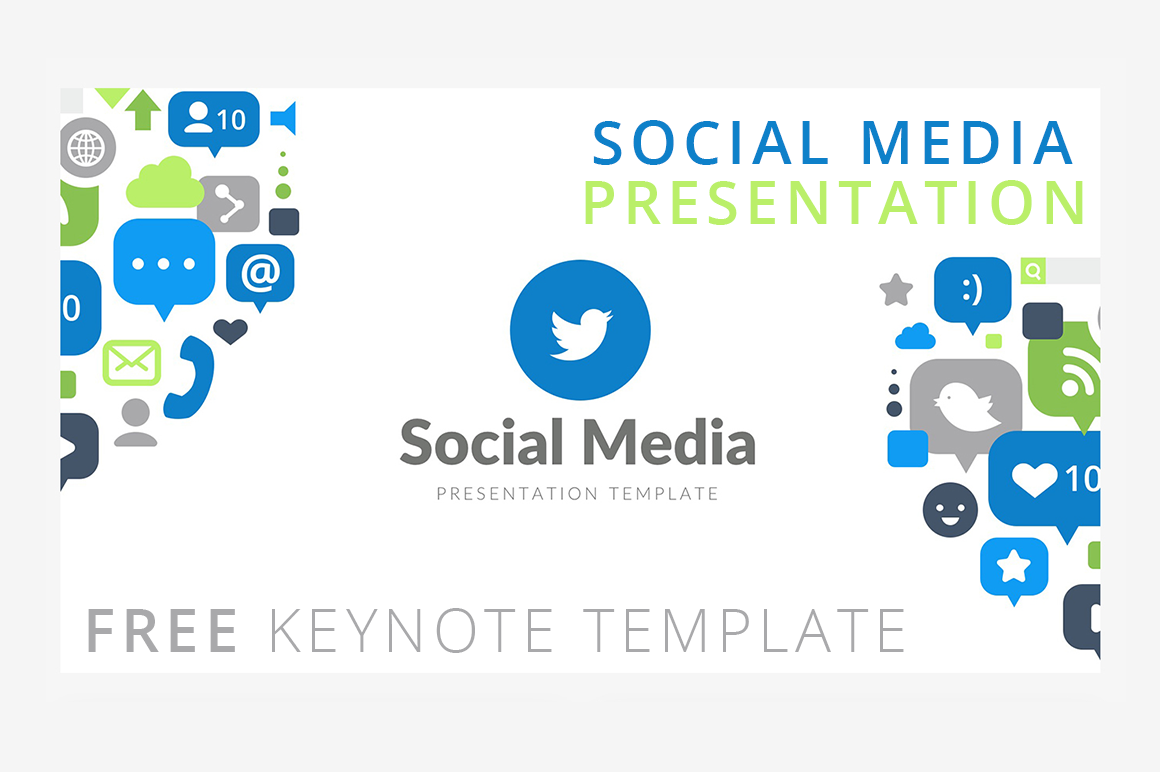 social media presentation keynote template graphic by creative