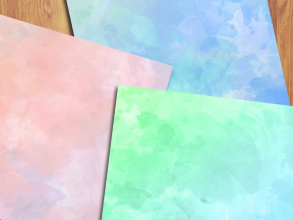 Soft Watercolor Digital Papers Graphic Backgrounds By GreenLightIdeas - Image 5