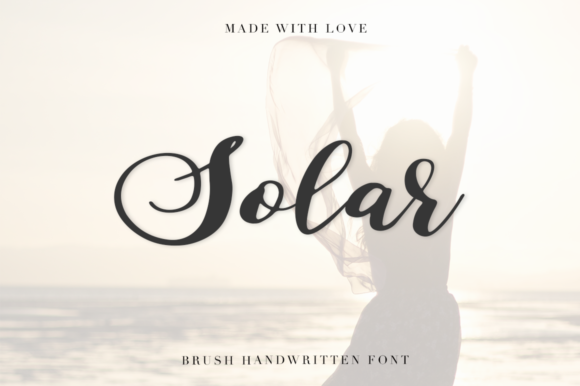 Print on Demand: Solar Script & Handwritten Font By Pasha Larin