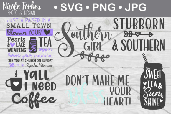 Download Free Southern Girl Bundle Graphic By Nicole Forbes Designs Creative for Cricut Explore, Silhouette and other cutting machines.