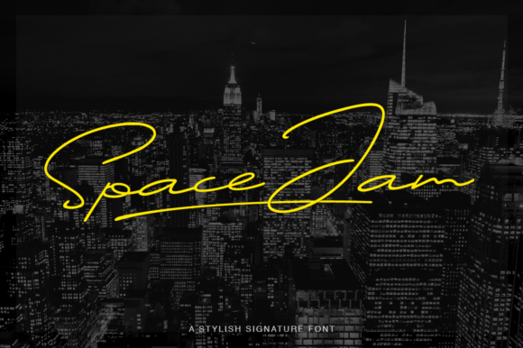 Print on Demand: Space Jam Script & Handwritten Font By Pasha Larin