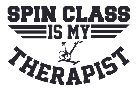Spin Class is My Therapist Sports Craft Cut File By Creative Fabrica Crafts