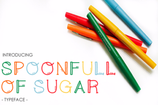 Print on Demand: Spoonfull of Sugar Display Font By yh.seaofknowledge