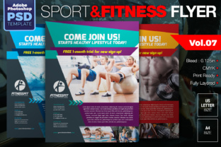 Download Free Sport Fitness Flyer Graphic By Kitcreativestudio Creative for Cricut Explore, Silhouette and other cutting machines.