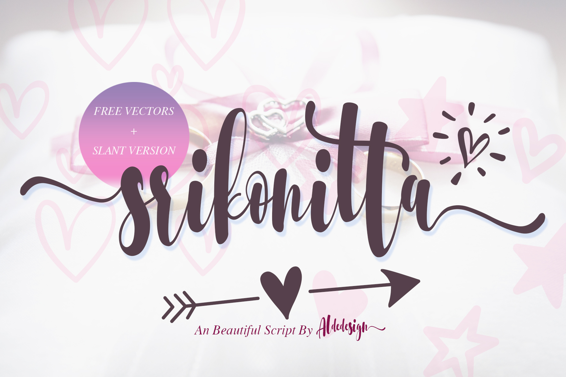 Download Free Srikonitta Font By Aldedesign Creative Fabrica for Cricut Explore, Silhouette and other cutting machines.