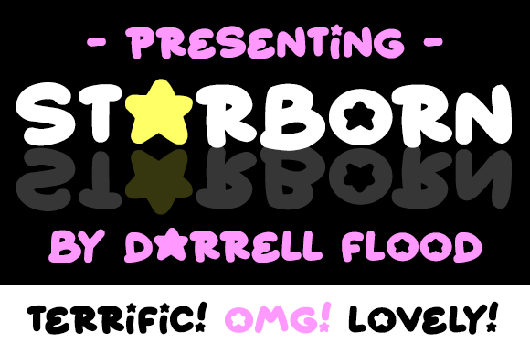 Print on Demand: Starborn Decorative Font By Dadiomouse