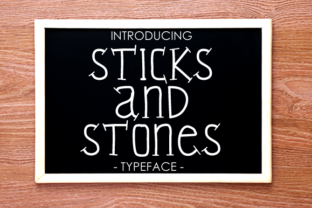 Sticks and Stones Font By yh.seaofknowledge