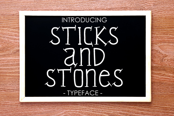 Print on Demand: Sticks and Stones Slab Serif Font By yh.seaofknowledge