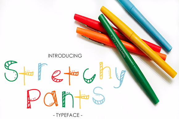 Print on Demand: Stretchy Pants Decorative Font By yh.seaofknowledge