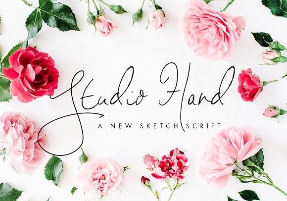 Print on Demand: Studio Hand Script & Handwritten Font By Bloom and Briar