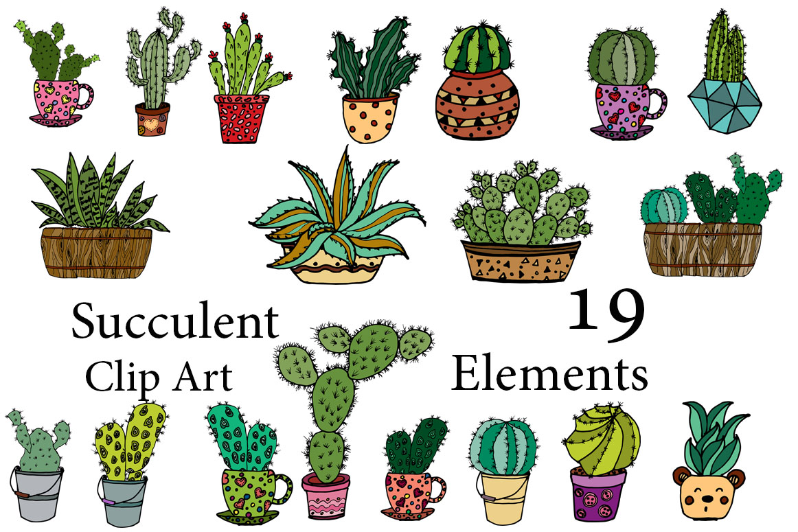 Download Free Succulent Clipart Cactus Clipart Doodle Cactus Clipart Line Art for Cricut Explore, Silhouette and other cutting machines.