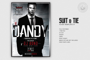 Suit and Tie Flyer Template Graphic By ThatsDesignStore