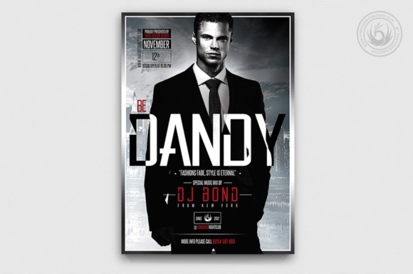 Suit and Tie Flyer Template Graphic Print Templates By ThatsDesignStore - Image 2