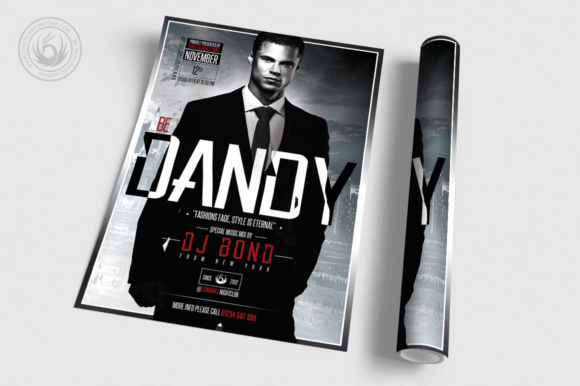 Suit and Tie Flyer Template Graphic Print Templates By ThatsDesignStore - Image 3