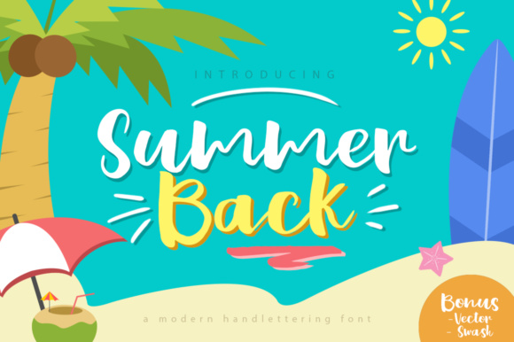 Print on Demand: Summer Back Script & Handwritten Font By Khurasan
