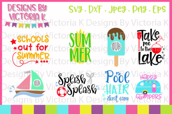 Download Free Summer Bundle Graphic By Designs By Victoria K Creative Fabrica for Cricut Explore, Silhouette and other cutting machines.