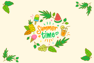Summer Time Handrawn Illustration Graphic By herbanuts