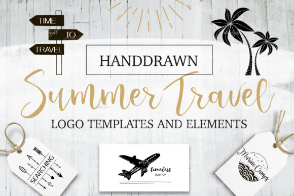 Summer&Travel Logo Templates Graphic By switzershop