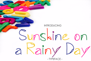 Print on Demand: Sunshine on a Rainy Day Display Font By yh.seaofknowledge