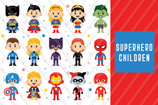 Download Free Superhero Children Graphic By Backthemc Creative Fabrica for Cricut Explore, Silhouette and other cutting machines.
