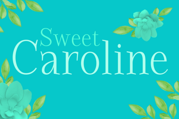 Print on Demand: Sweet Caroline Serif Font By Silhouette America, Inc.
