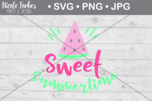 Download Free Sweet Summertime Cut File Graphic By Nicole Forbes Designs for Cricut Explore, Silhouette and other cutting machines.