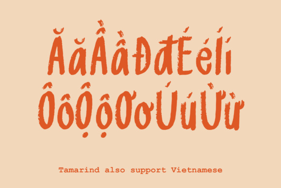 Print on Demand: Tamarind Sans Serif Font By Prangtip.me - Image 3