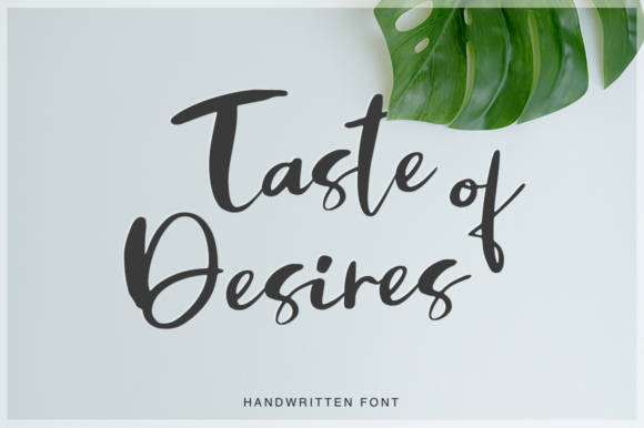 Print on Demand: Taste of Desires Script & Handwritten Font By Pasha Larin