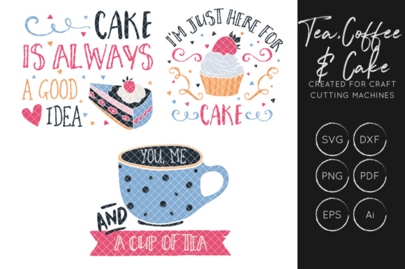 Download Free Tea Coffee Food Bundle Graphic By Illuztrate Creative Fabrica for Cricut Explore, Silhouette and other cutting machines.