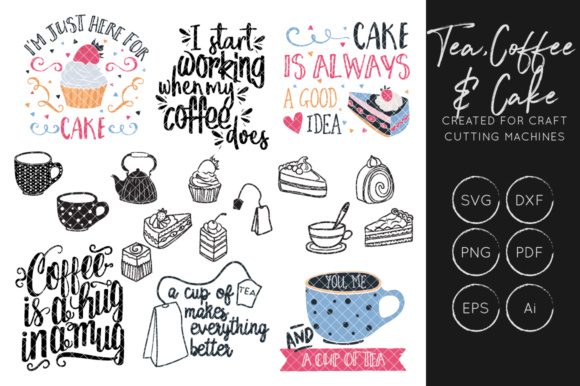Print on Demand: Tea - Coffee - Food SVG Bundle Graphic Crafts By illuztrate